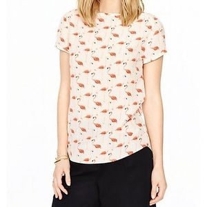 kate spade Tops - Kate Spade Flamingo Silk-blend Top